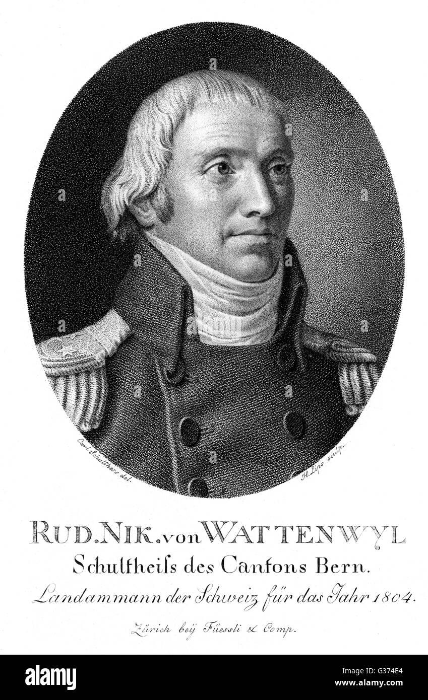 Nikolaus Rudolf Von Wattenwyl Schweizer Staat Offizielles Datum