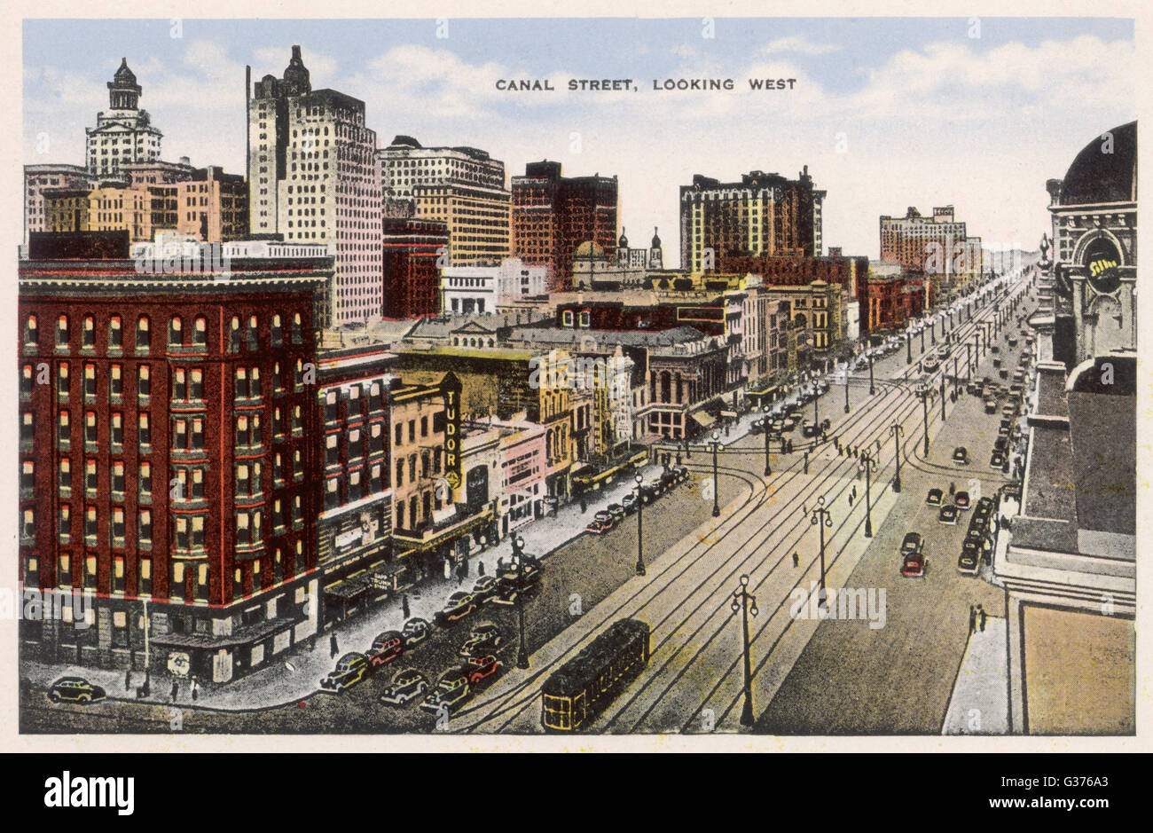 Canal Street Date: geschrieben 1955 Stockbild