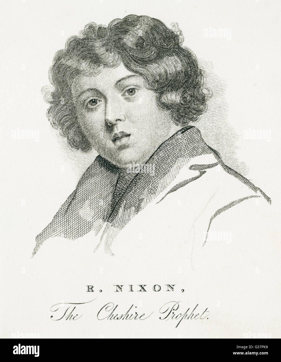 ROBERT NIXON die Cheshire-Prophet. Blühte 1620.       Datum:- Stockbild