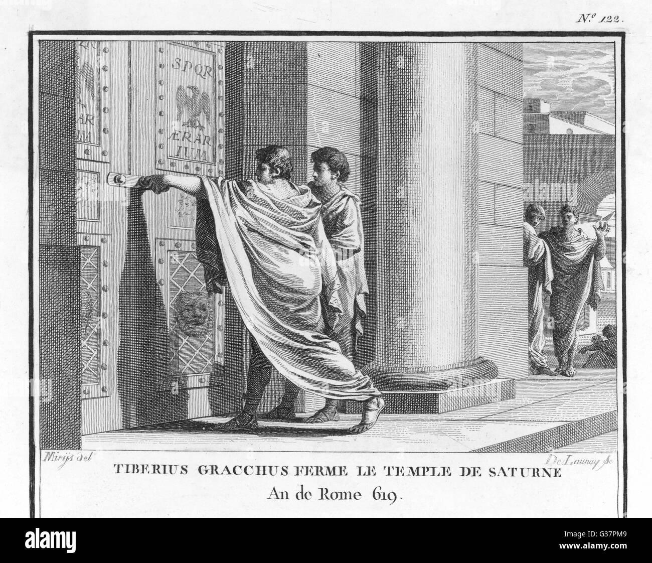 tiberius gracchus Tiberius sempronius gracchus, né en 168 ou 163 av j-c [1] et mort en 133 av j-c, forme avec son frère gaius gracchus les « gracques.