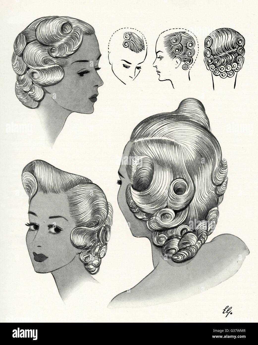 In den 1940er Jahren war aufwendig Haar. Aufgrund der Rationierung ...