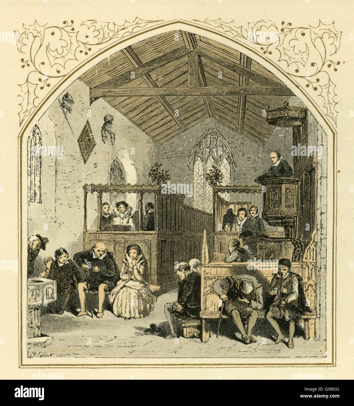 Die Weihnachtspredigt in einem englischen Landhaus Kirche Datum: 17 ...