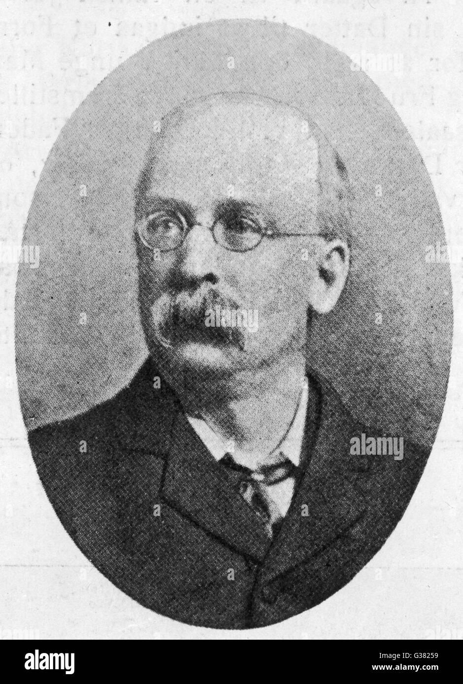 EBENEZER HOWARD Reformer und Urheber des Konzepts der Gartenstadt Datum: 1850-1928 Stockbild