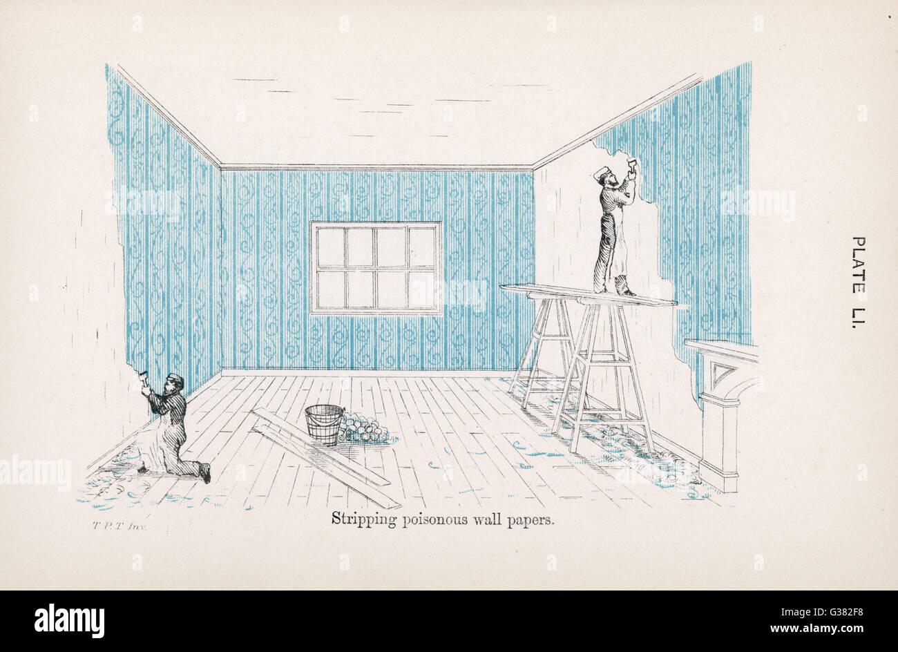 Stripping (giftig) Tapete Datum: 1878 Stockbild