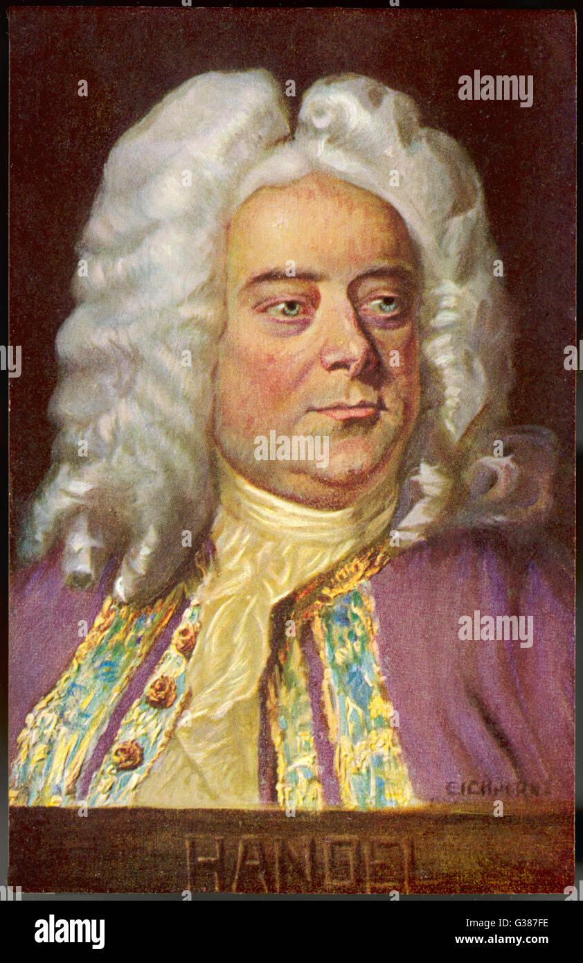 GEORGE FREDERIC HANDEL deutsch-englische Musiker Datum: 1685-1759 Stockbild