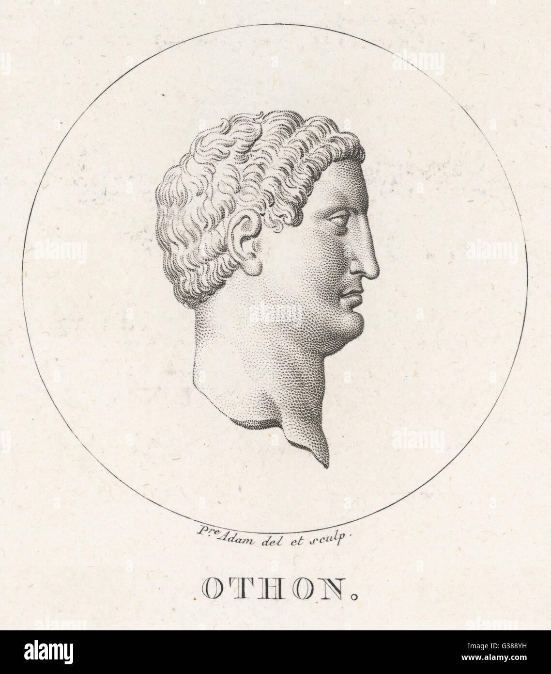 Marcus Salvius OTHO römischer Kaiser Selbstmord Datum: 32-69 Stockbild