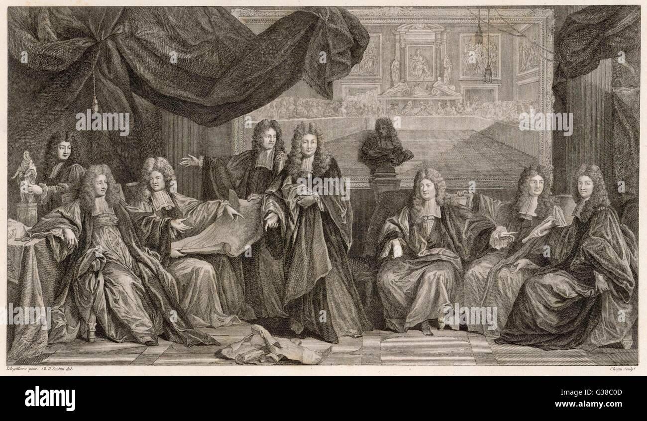 """LOUIS XIV """"LE ROI SOLEIL"""" mit dem Titel """"der Genesung von Louis XIV"""" Dies zeigt ihn (2. von Stockbild"""