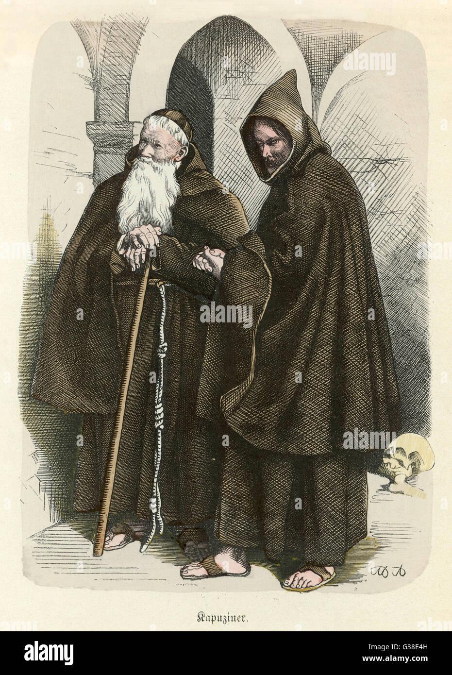KAPUZINER - FRANZISKANER-MÖNCHEN DER NEUEN REGEL 1528 Stockbild