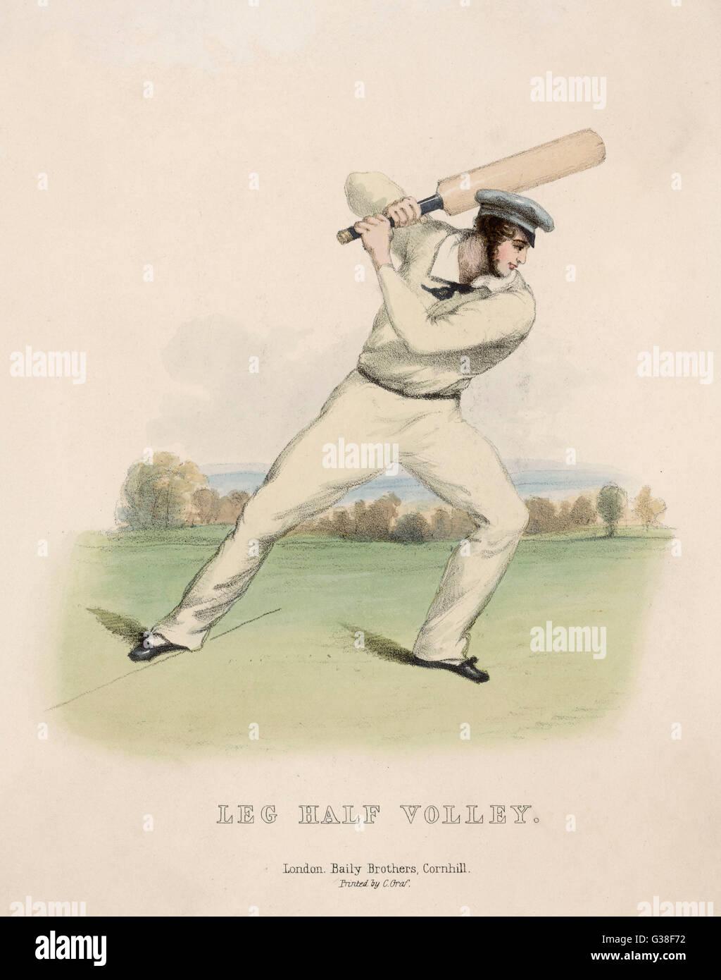 """Bein Halbvolley"" Datum: 1845 Stockbild"