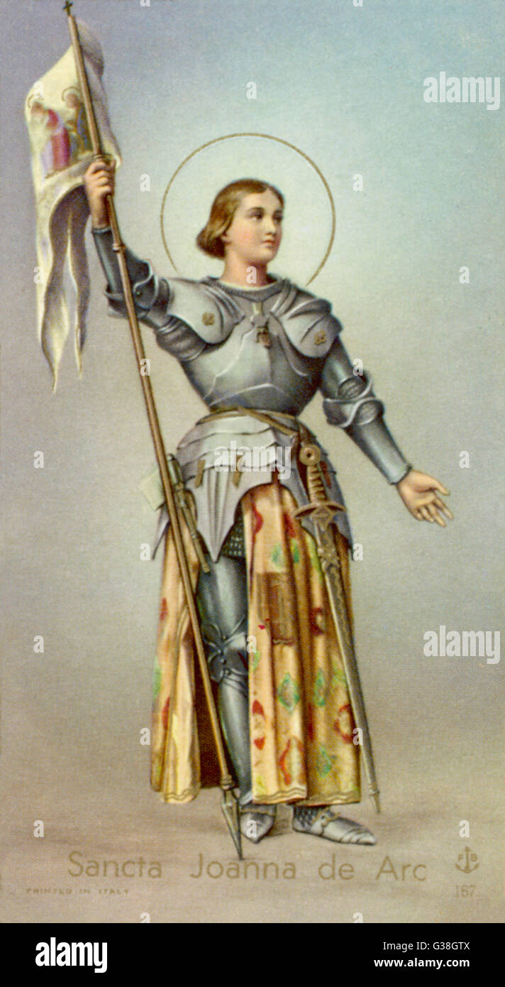 Jeanne d ' ARC Datum: 1412? -1431 Stockbild