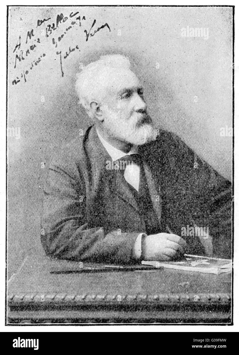 JULES VERNE französischer Science-Fiction-Autor Datum: 1828-1905 Stockbild