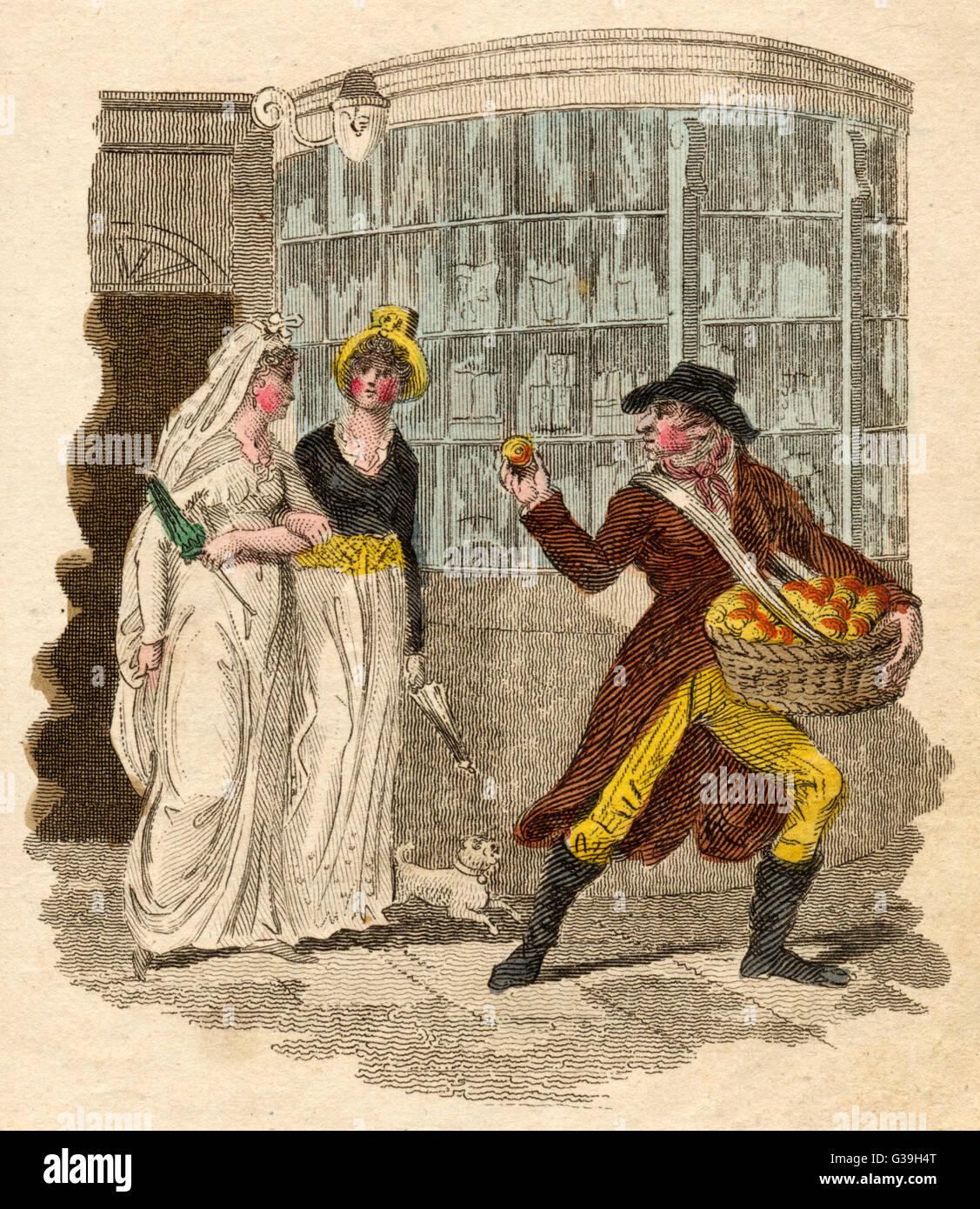 """""""Orangen, feine Orangen"""" Datum: 1804 Stockbild"""