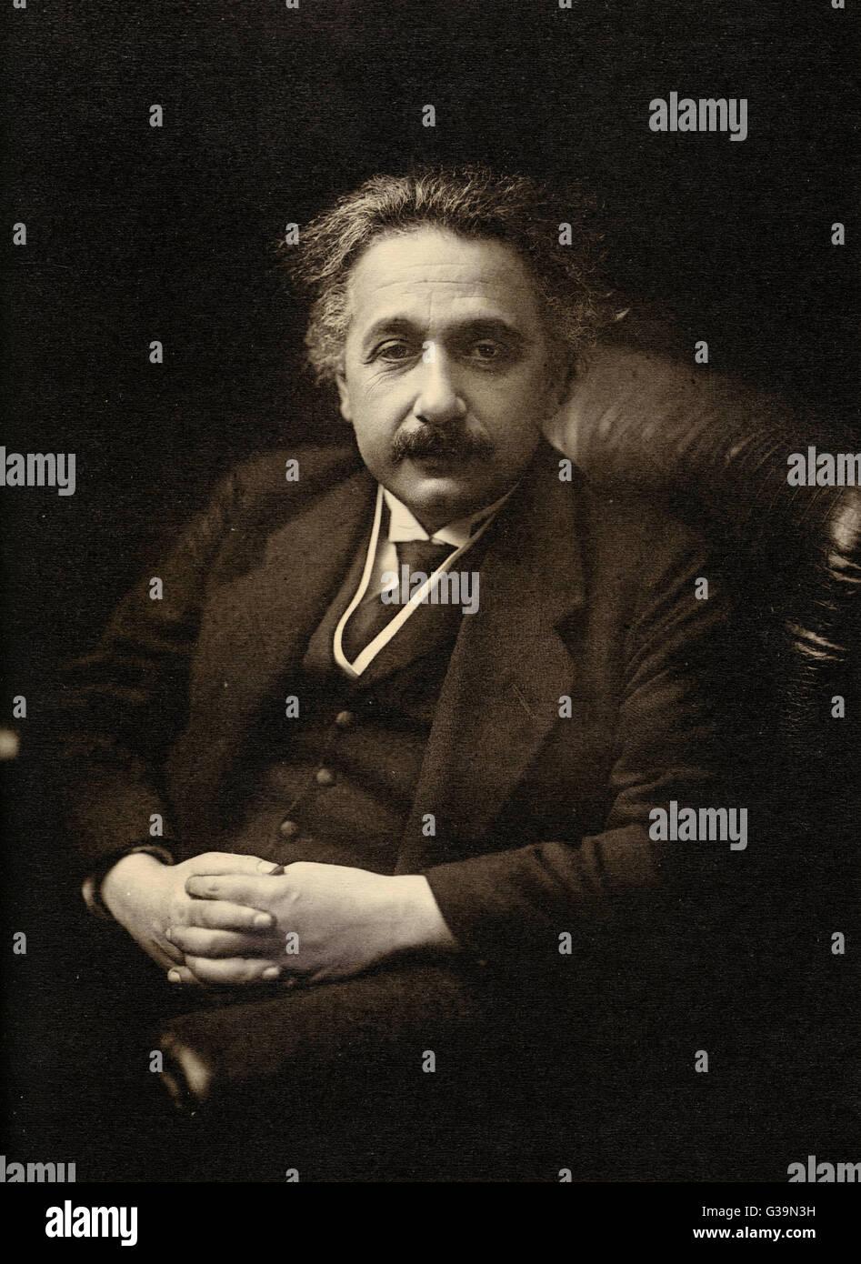 ALBERT EINSTEIN Wissenschaftler Datum: 1879-1955 Stockbild