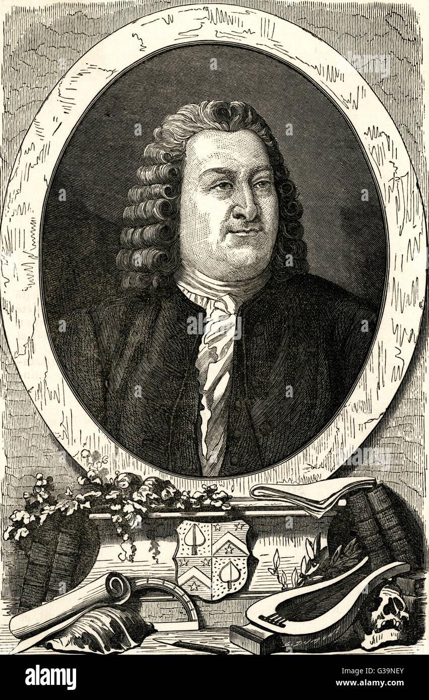 ALBRECHT VON HALLER, Schweizer Arzt und Wissenschaftler Datum: 1708-1777 Stockbild