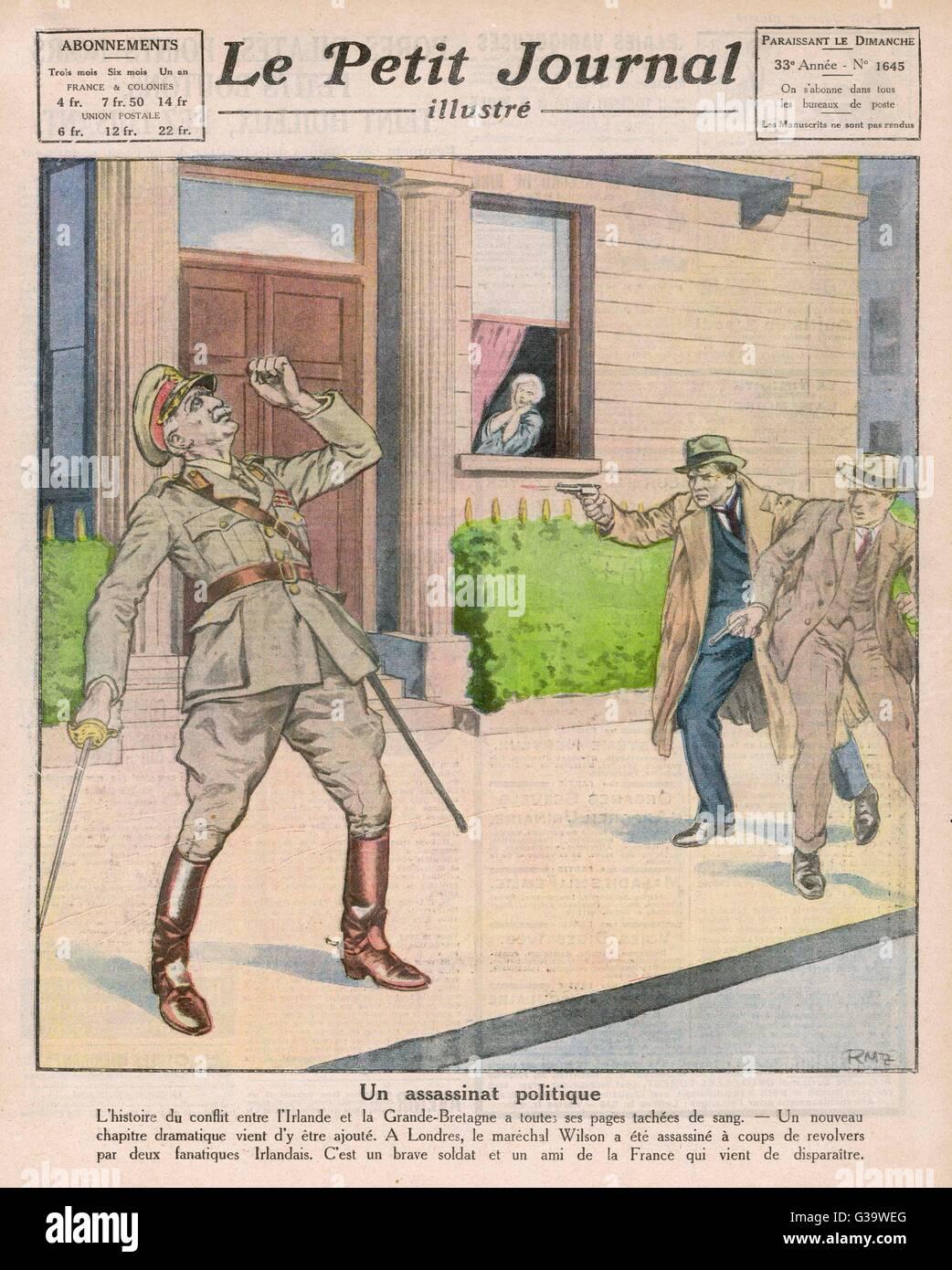 Irische Terroristen ermorden Sir H H WILSON. Datum 20 ...
