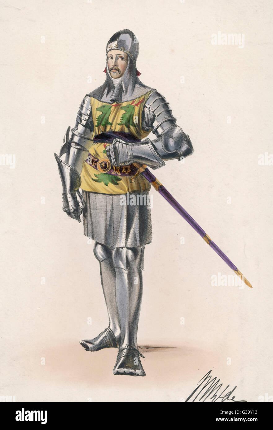 Ritter in Rüstung Stockbild