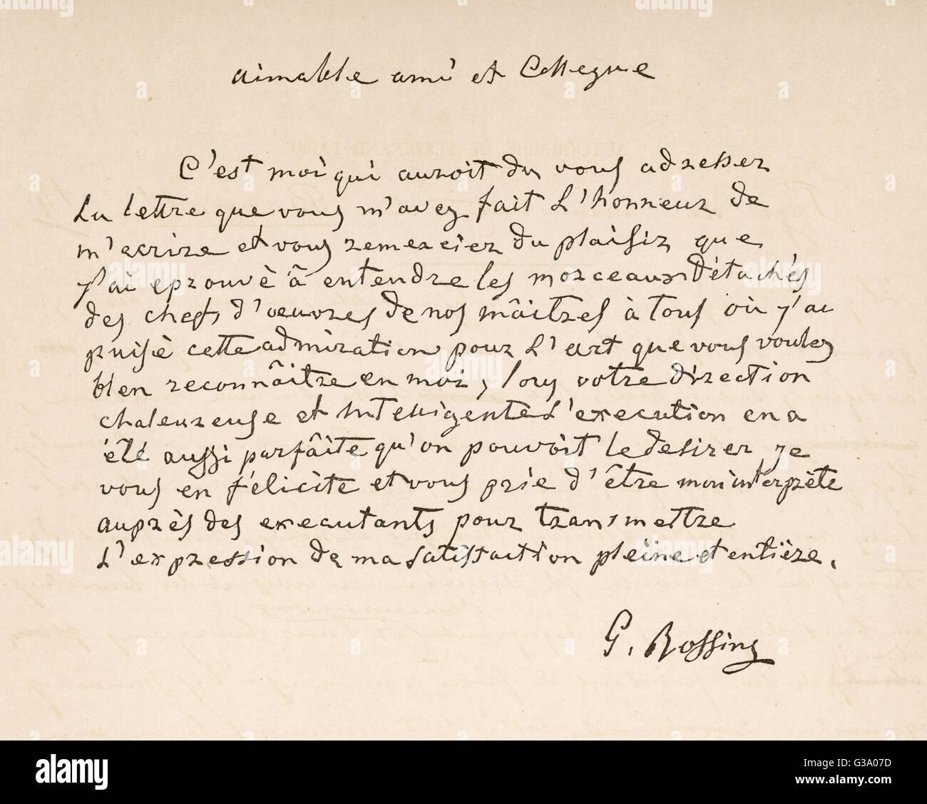 Freund brief französisch schreiben Brief auf