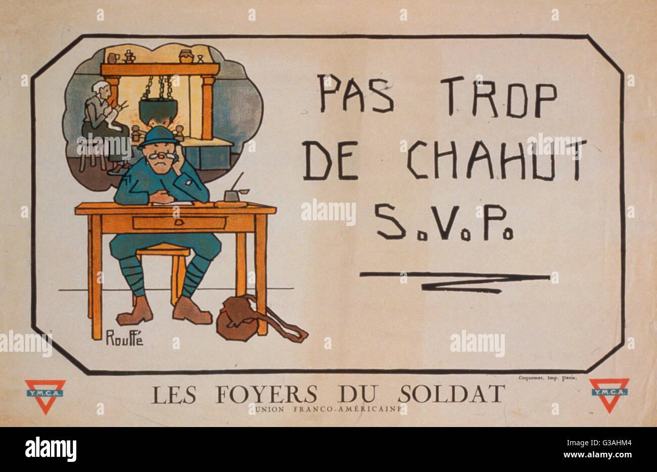 Pas Trop De Chahut Svp Les Foyer Du Soldat Soldat Einen Brief