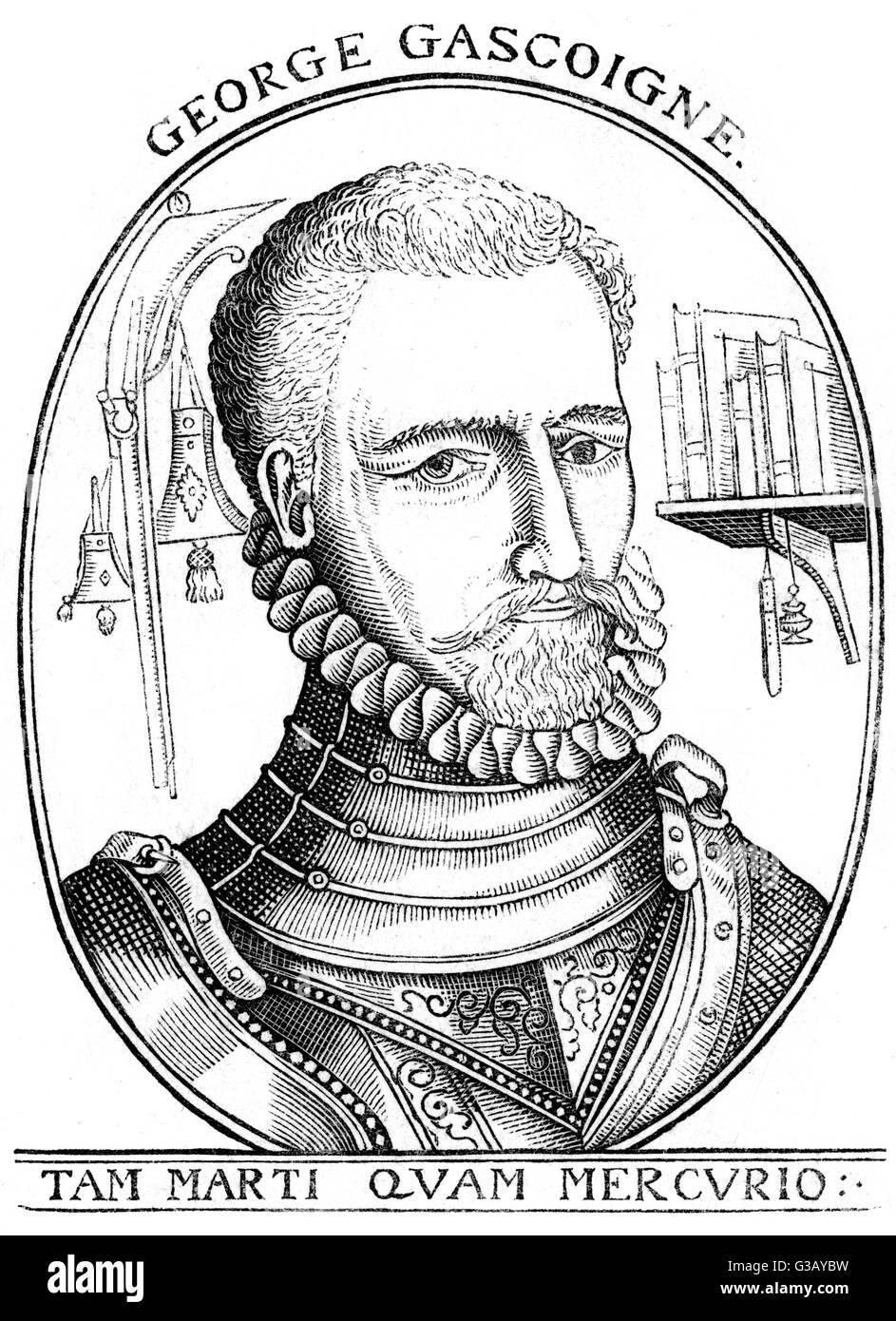GEORGE GASCOIGNE Dichter und Dramatiker Datum: 1525-1577 Stockbild