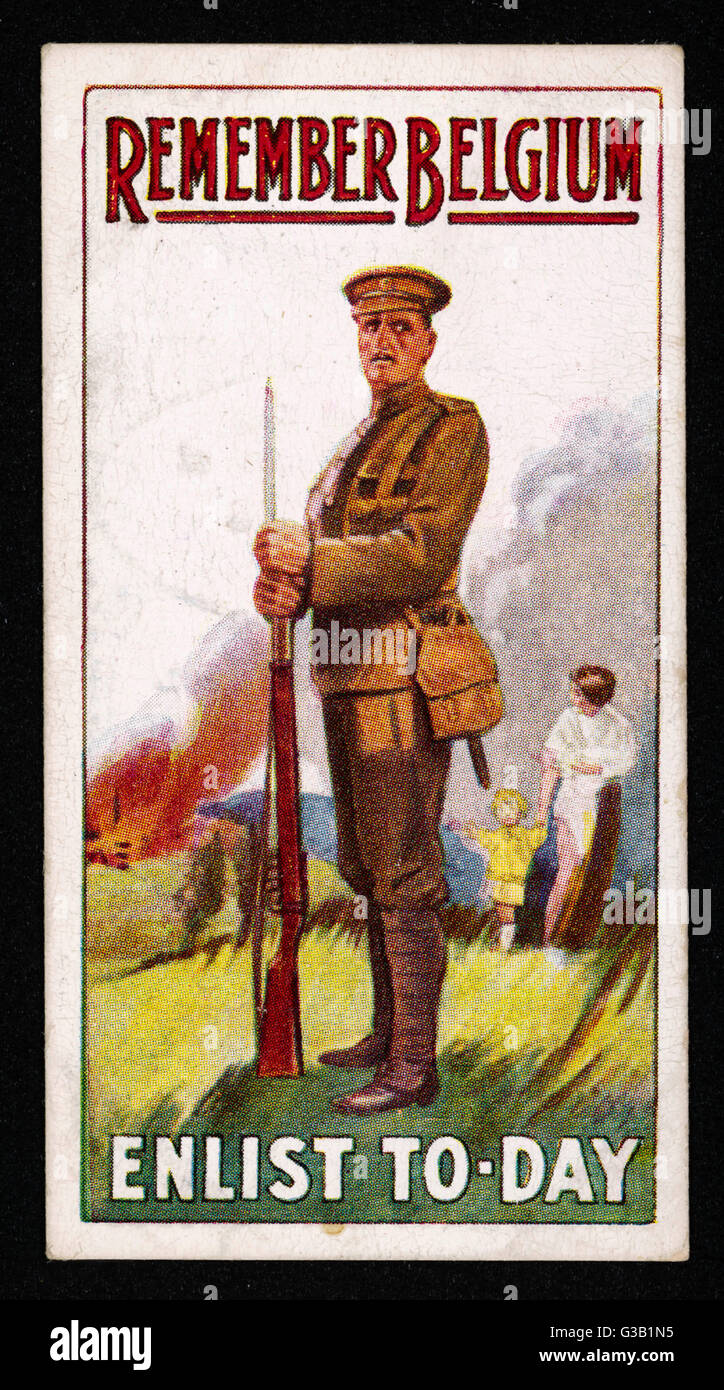 """""""Erinnern Sie Belgien.""""         Datum: um 1915 Stockbild"""