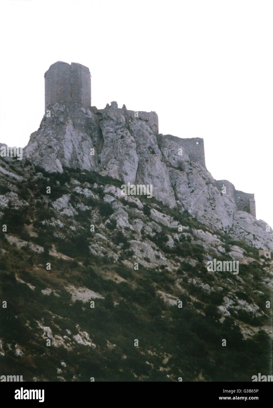 Queribus, Languedoc Datum: 1989 Stockbild
