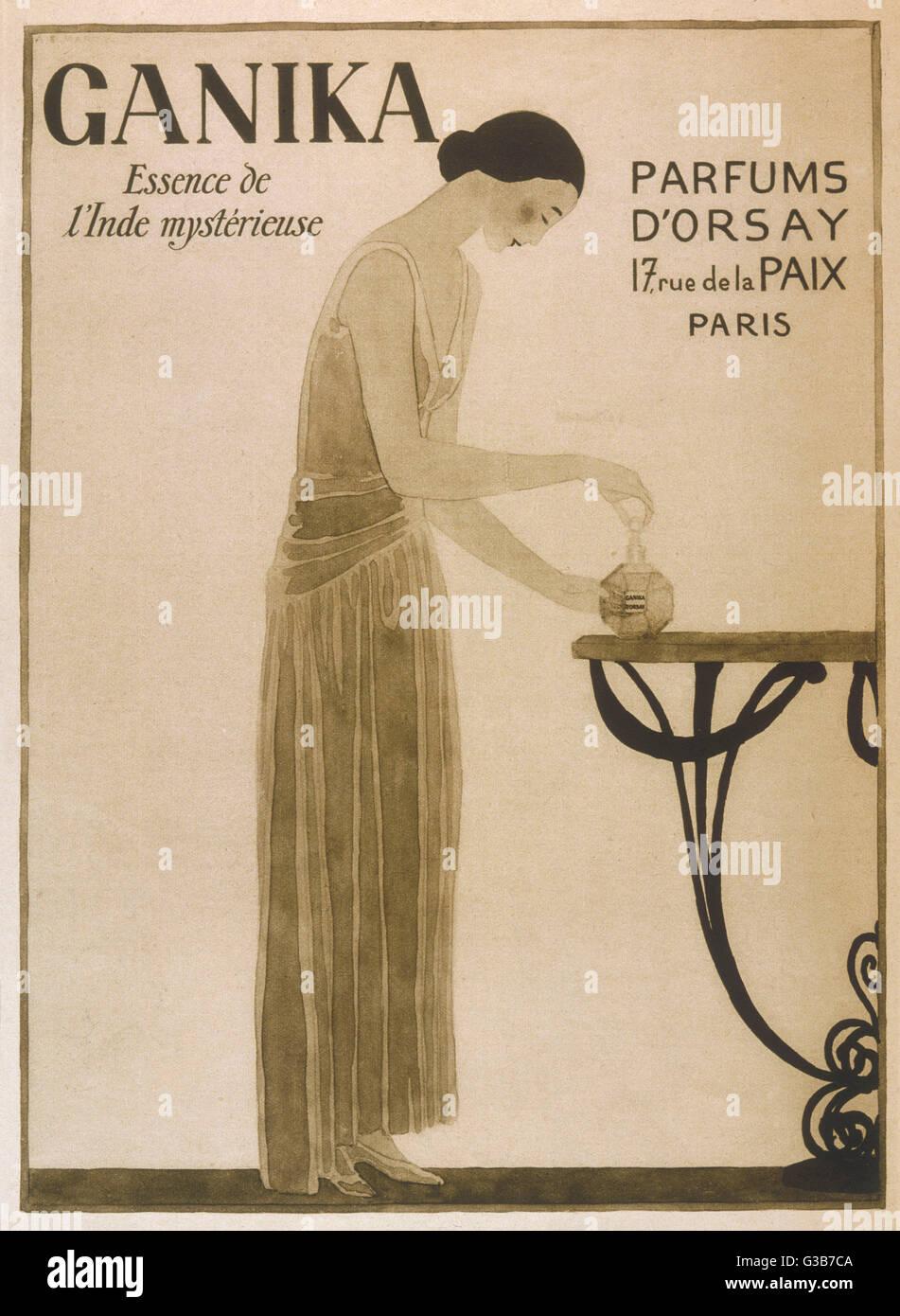 Ganika - geheimnisvolle Wesen des Ostens, von Parfums d ' Orsay, 17 Rue De La Paix Paris Datum geliefert: 1920er Stockbild