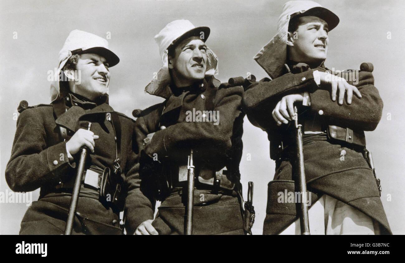 Robert Preston, Ray Milland, Gary Cooper und Brian Donlevys (ganz zu schweigen von Susan Hayward) Sterne in Wellman Stockbild