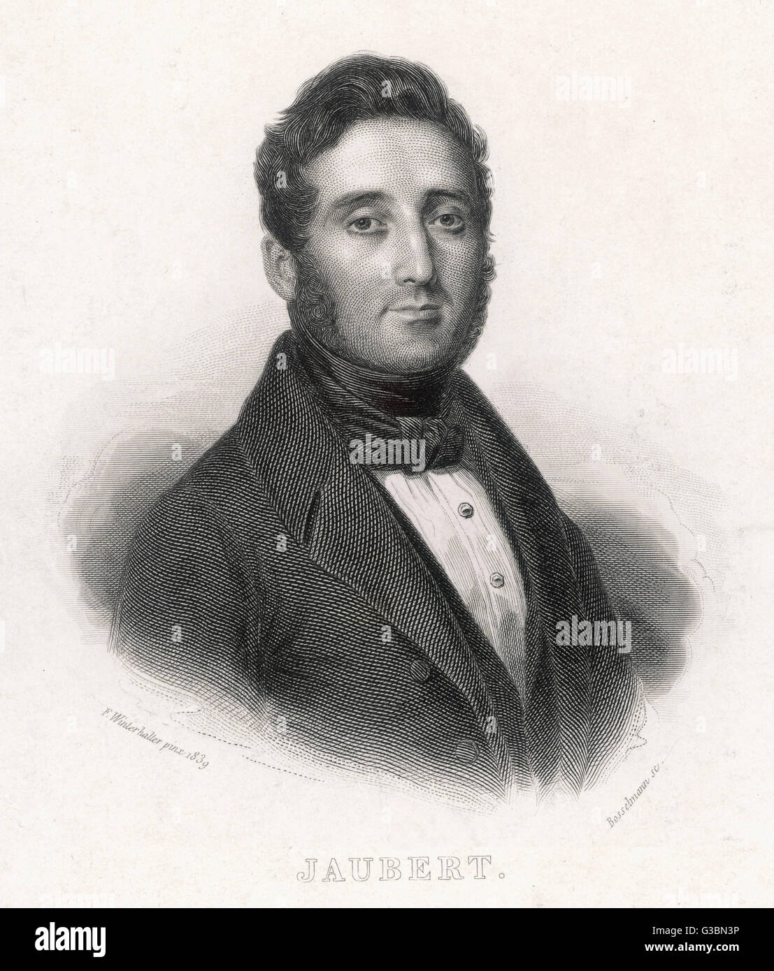 PIERRE A E P JAUBERT französischer Orientalist Datum: 1779-1847 Stockbild