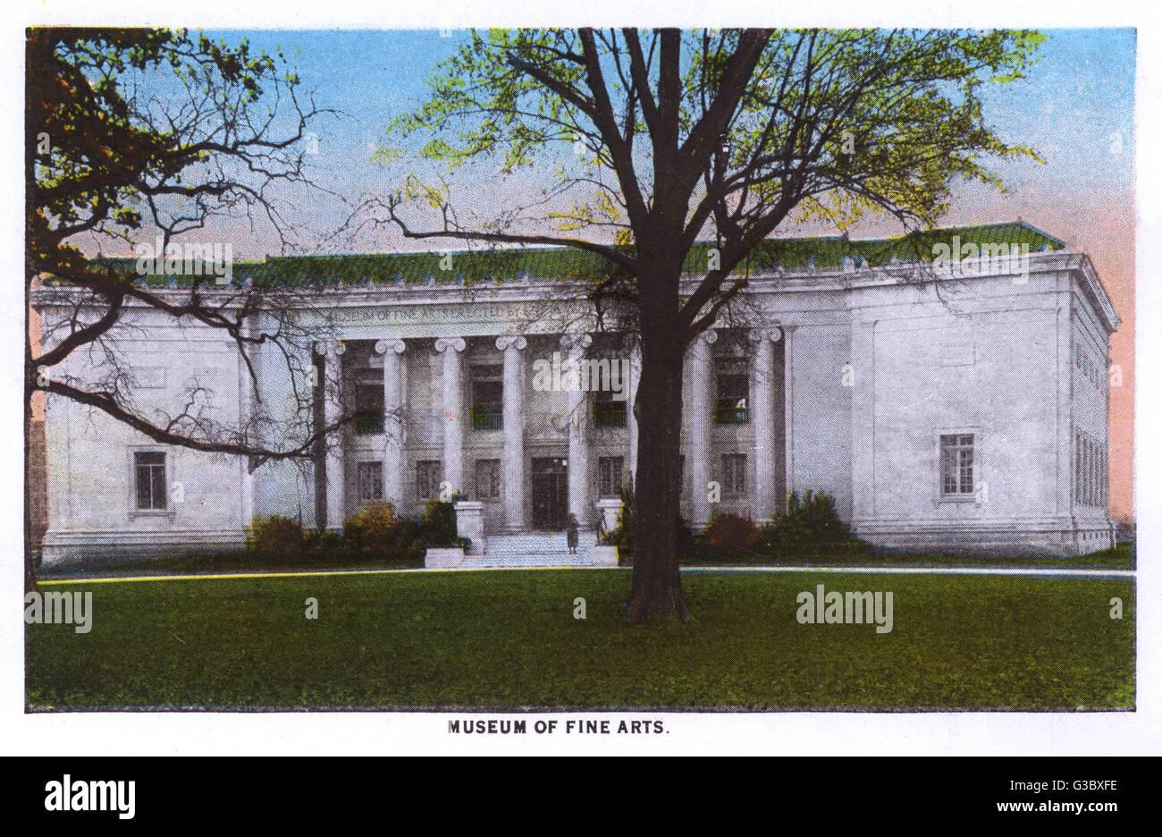 Museum of Fine Arts, Houston, Texas, USA.      Datum: ca. 1928 Stockbild