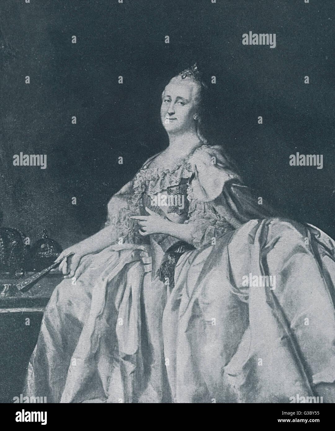 Yekaterina Alexeevna oder Catherine II, auch bekannt als Katharina die große von Russland (1729-1796, regierte 1762-1796).      Datum: 18. Jahrhundert Stockfoto