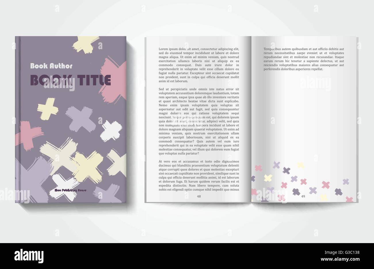 Buch-Design-Vorlage Vektor Abbildung - Bild: 105370476 - Alamy