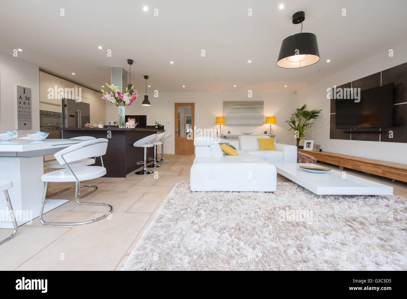 Moderne Küche Innenraum Stockbild