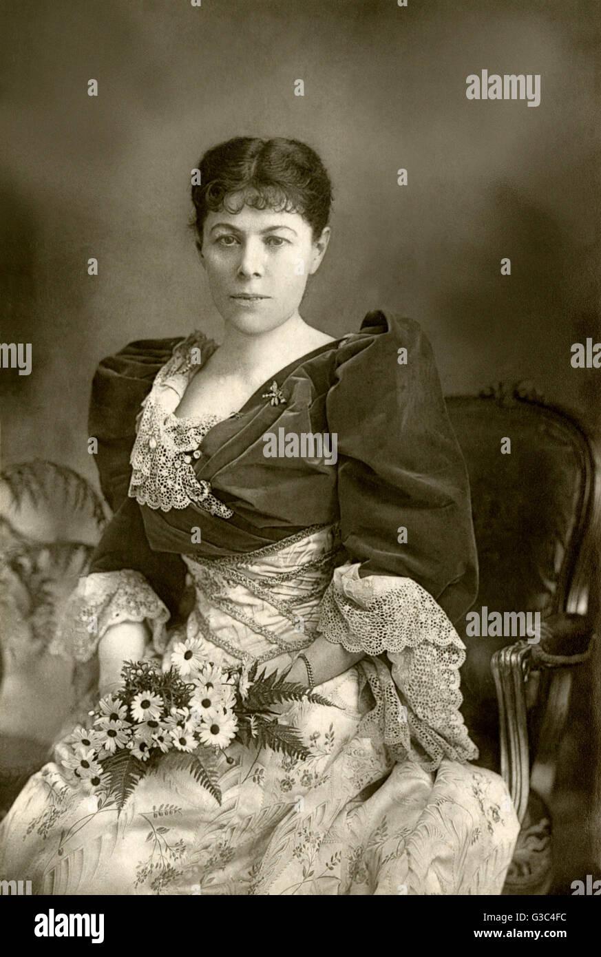 """Frances """"Fanny"""" Whiteside Brough (1852 ? 1914), Paris geborene britische Schauspielerin ist vor allem Stockbild"""
