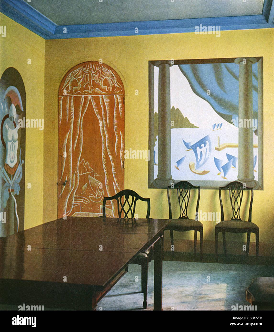 Esszimmer Mit Wanddekorationen Von John Armstrong Und Chippendale