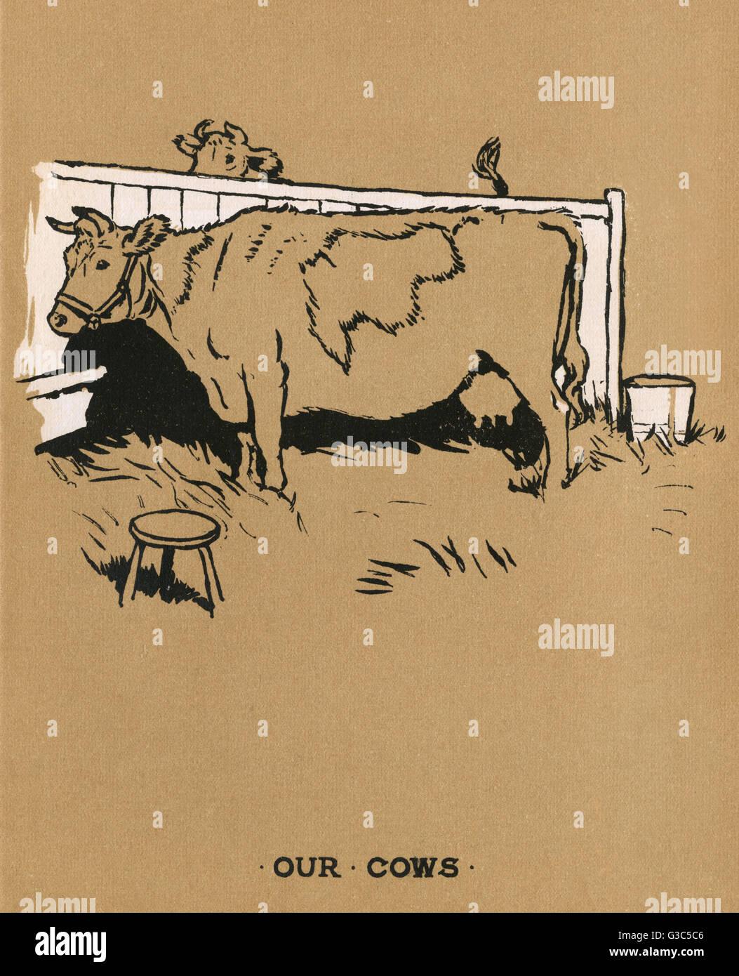 Illustration (zum Ausmalen), Cecil Aldin Malbücher, unsere Tiere ...