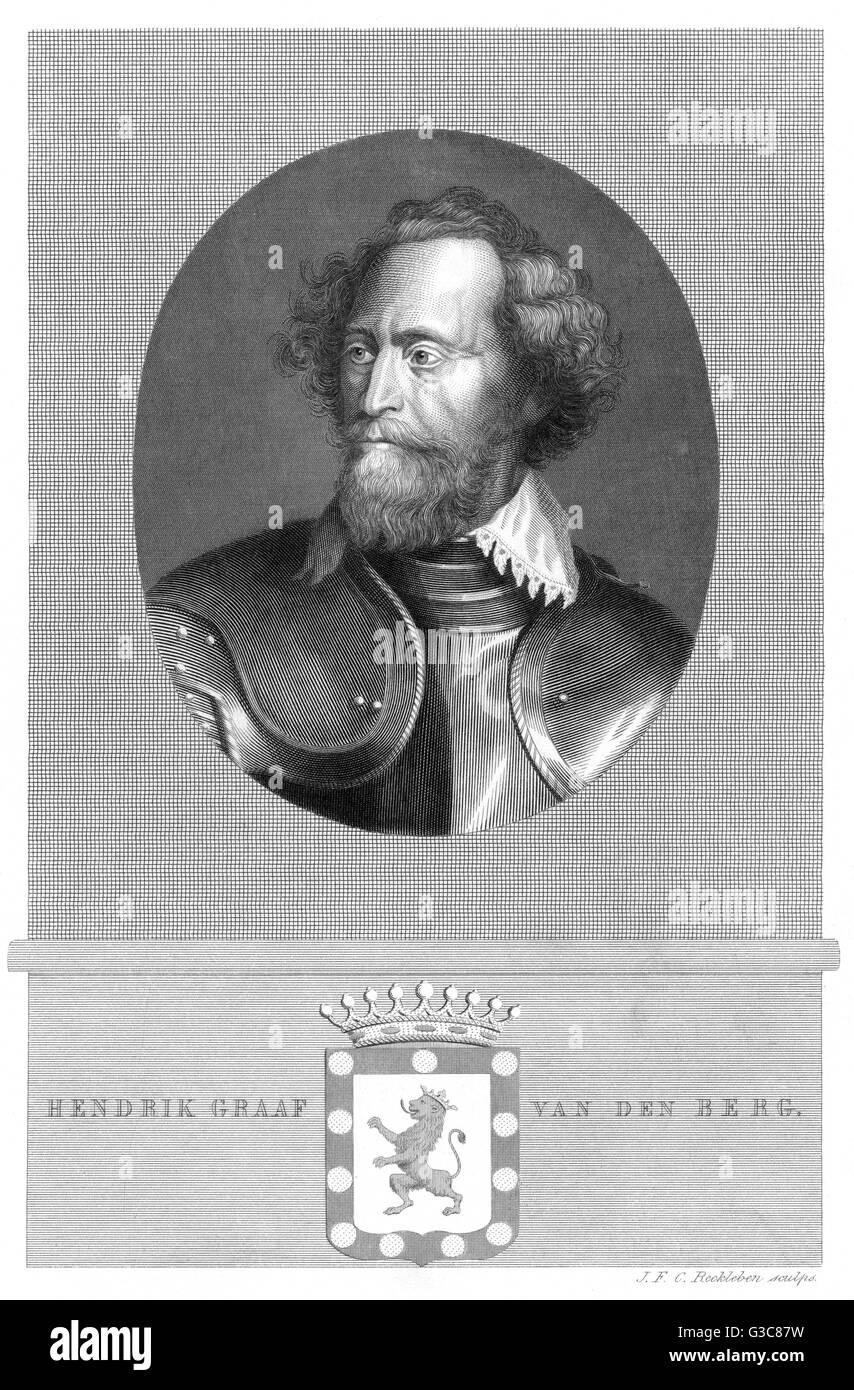 HENDRIK Graf VAN DEN BERG flämischen Militärbefehlshaber Datum: 1573-1638 Stockbild