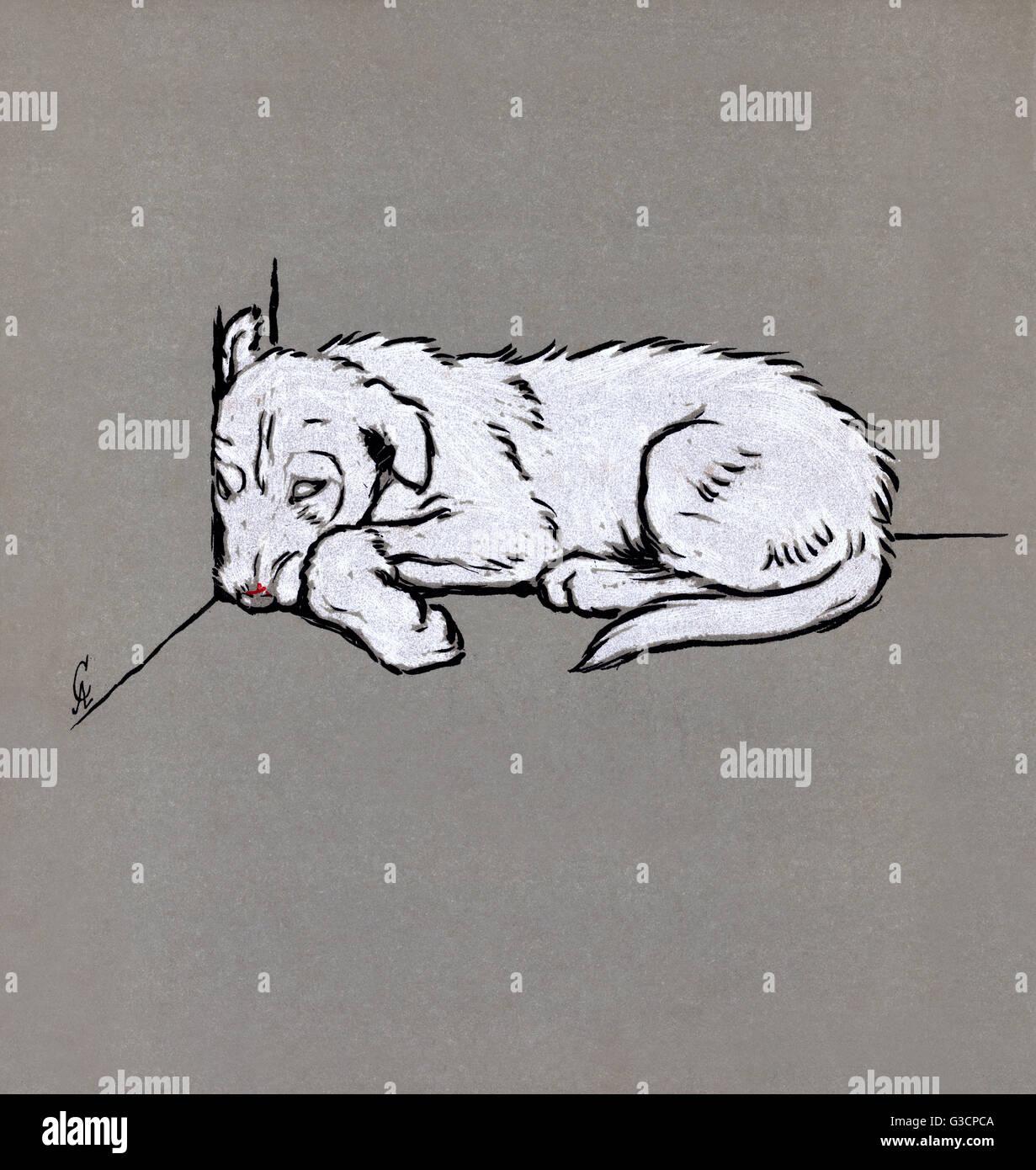 Illustration von cecil aldin die wei en welpen buch for Tim malzer die kuche buch