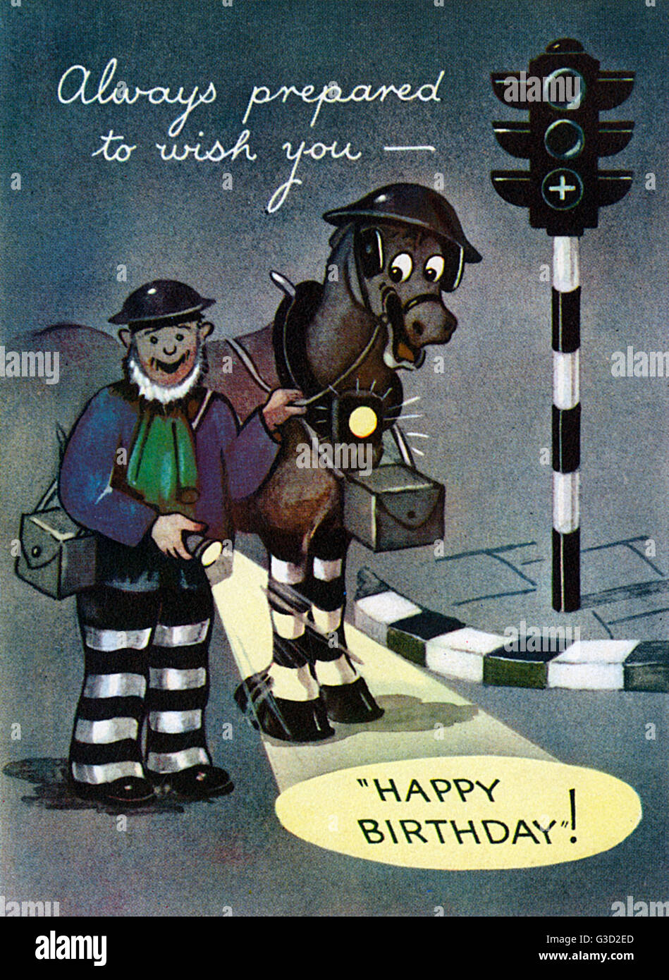 Karte Geburtstag Mann.Ww2 Arp Mann Mit Pferd Und Taschenlampe Dem Empfänger Dieser Karte