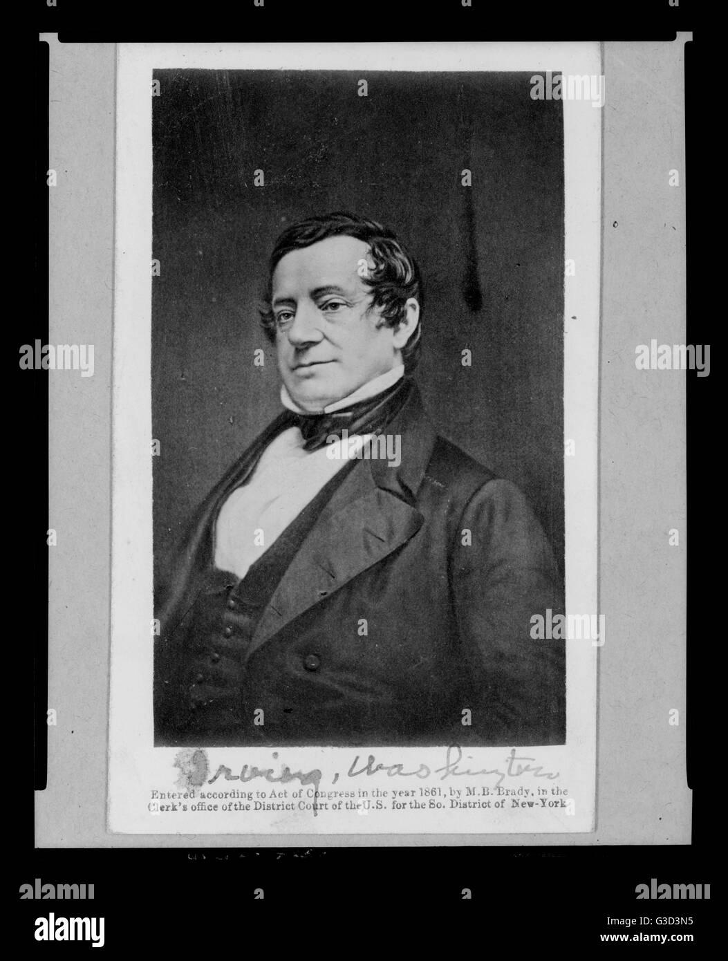 Drei Viertel Kopf und Schultern Porträt des amerikanischen Autor, Essayist, Biograf, Historiker und Diplomat Stockbild