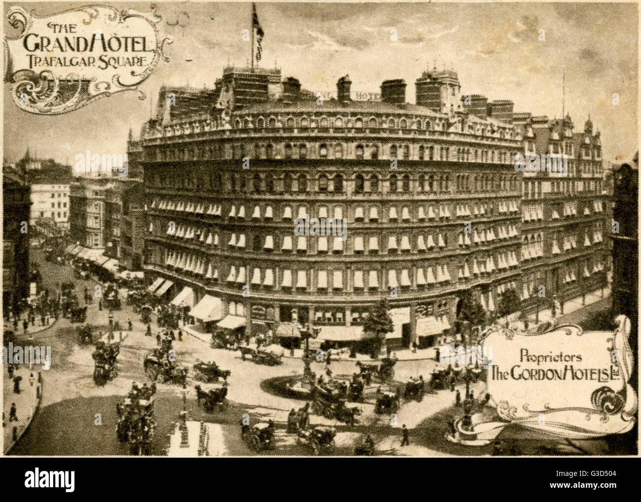 Grand Hotel Trafalgar Square London An Der Ecke Von The Strand Und Northumberland Avenue Datum 1908 Stockfotografie Alamy