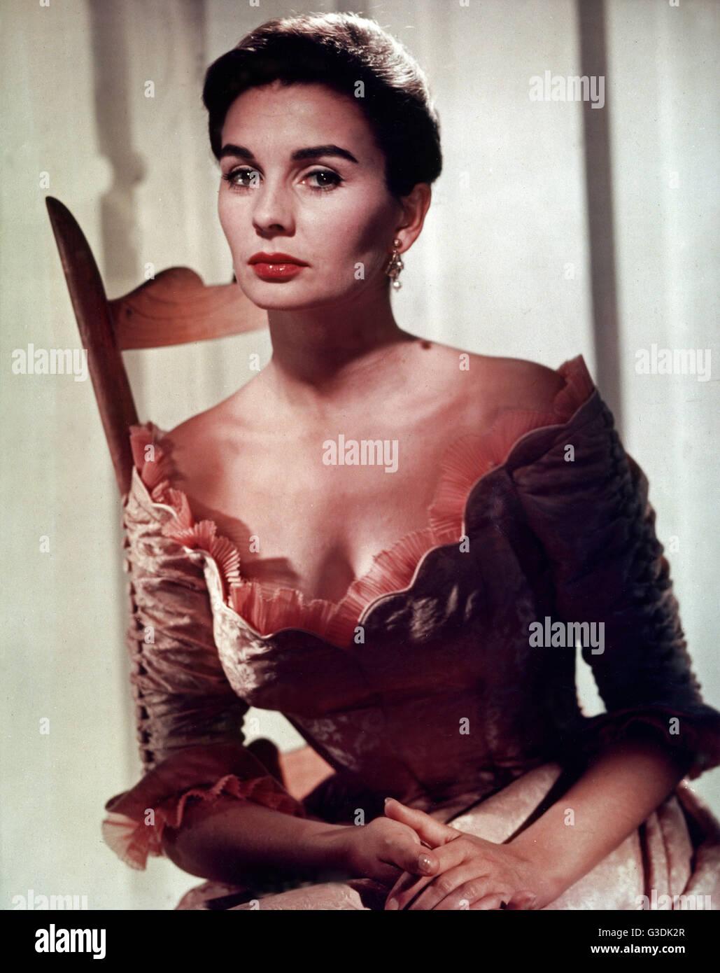 Sterben Sie Britisch-Amerikanische Schauspielerin Jean Simmons, 1950er Jahre. Britische Schauspielerin Jean Simmons, Stockbild