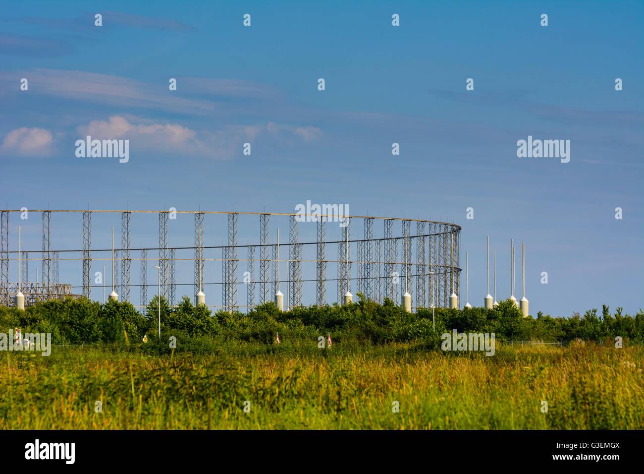 Wullenwever (Wullenweber) Antennengruppe des BND, Deutschland, Bayern, Bayern, Schwaben, Swabia, Gablingen Stockbild