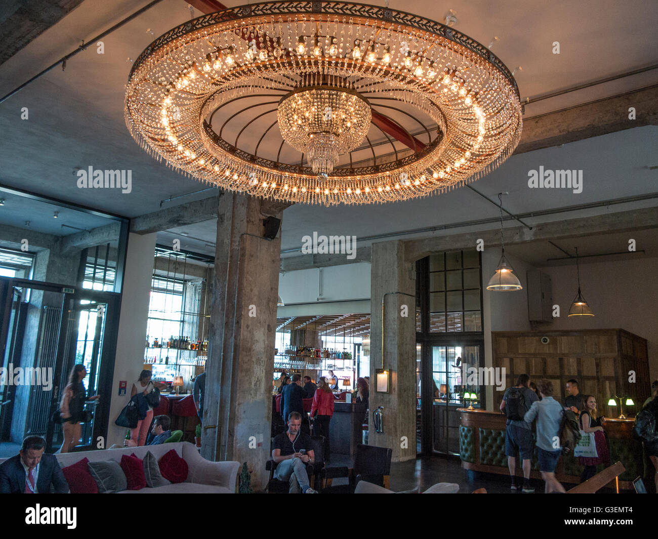 Innere Des Soho House Berlin Stockfoto Bild 105429860 Alamy