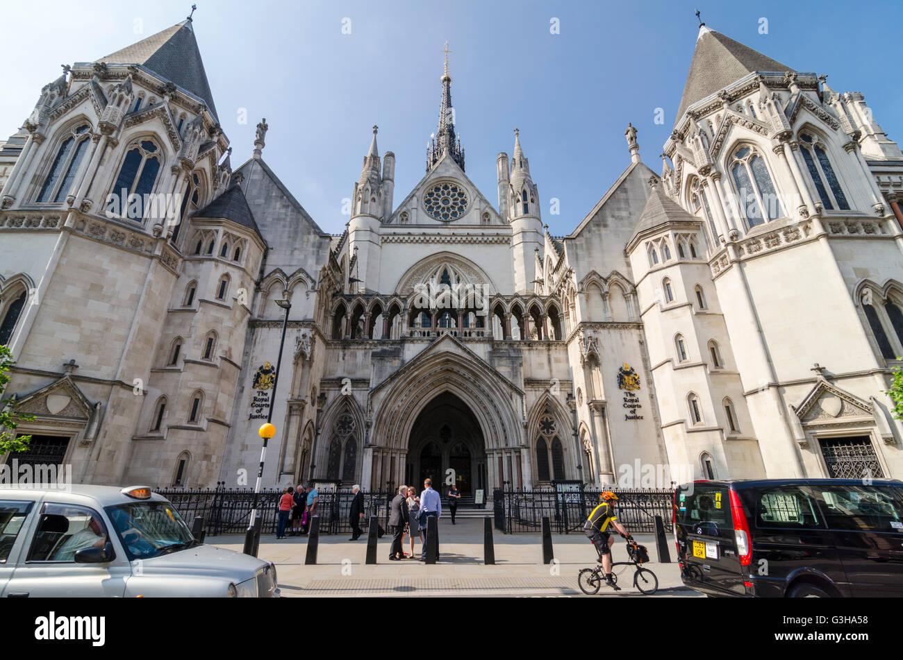 Königlichen Gerichten, London, UK Stockfoto