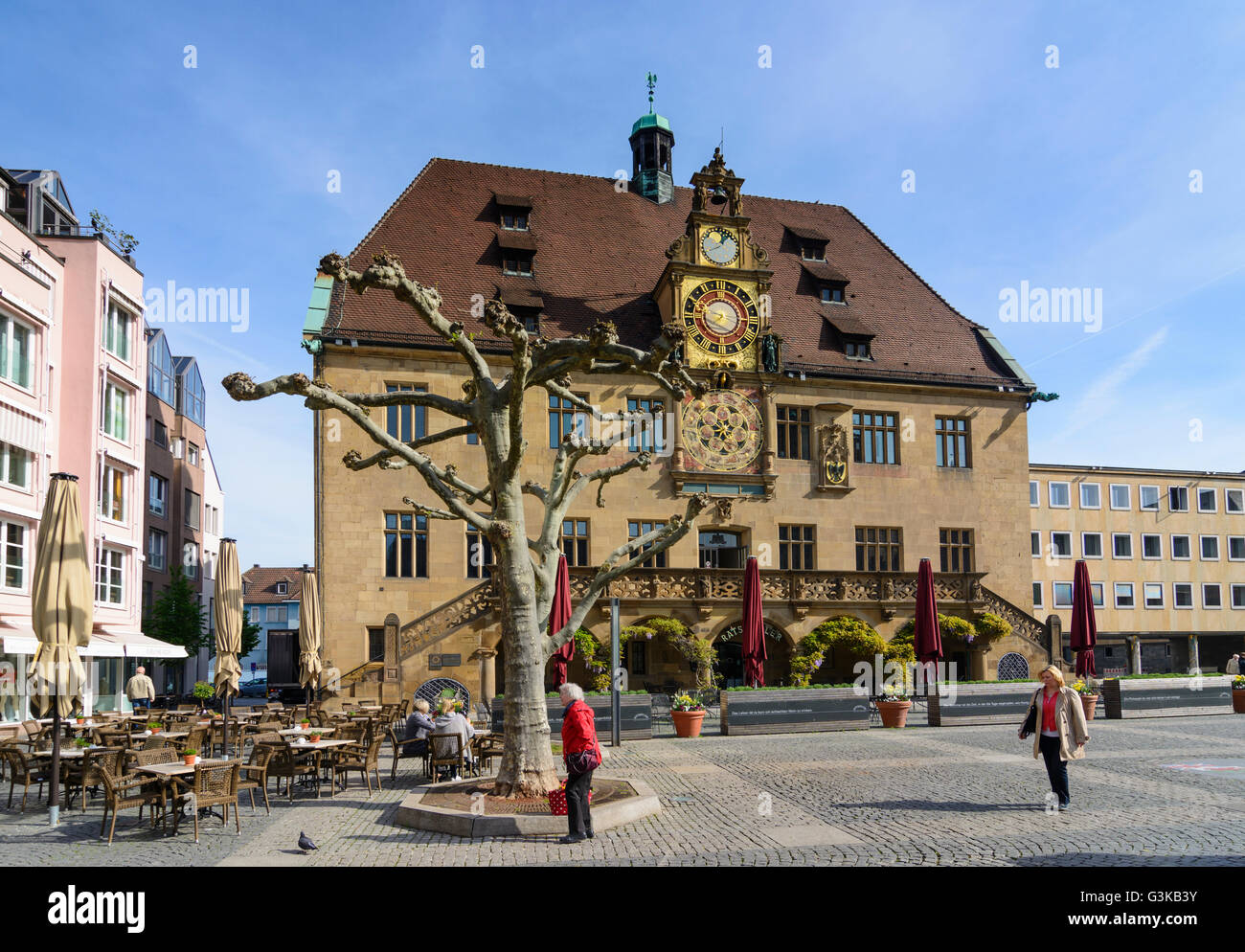 sqare marktplatz rathaus markt heilbronn heilbronner land baden w rttemberg deutschland. Black Bedroom Furniture Sets. Home Design Ideas
