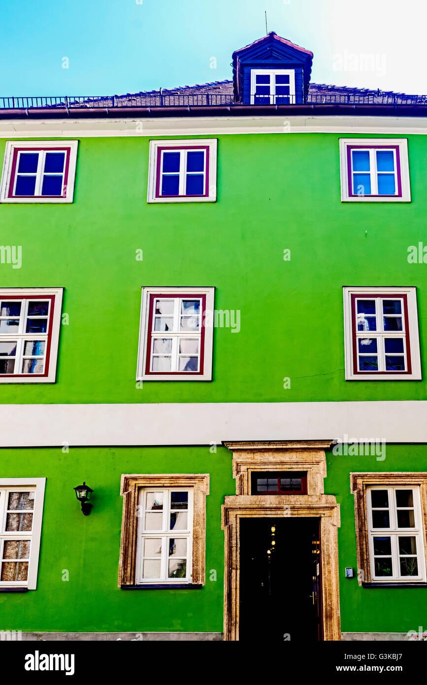 Jena: Museum Romantikerhaus, Dependance Wohnhaus des Philosophen Johann Gottlieb Fichte; Museum der deutschen Frühromantik Stockbild