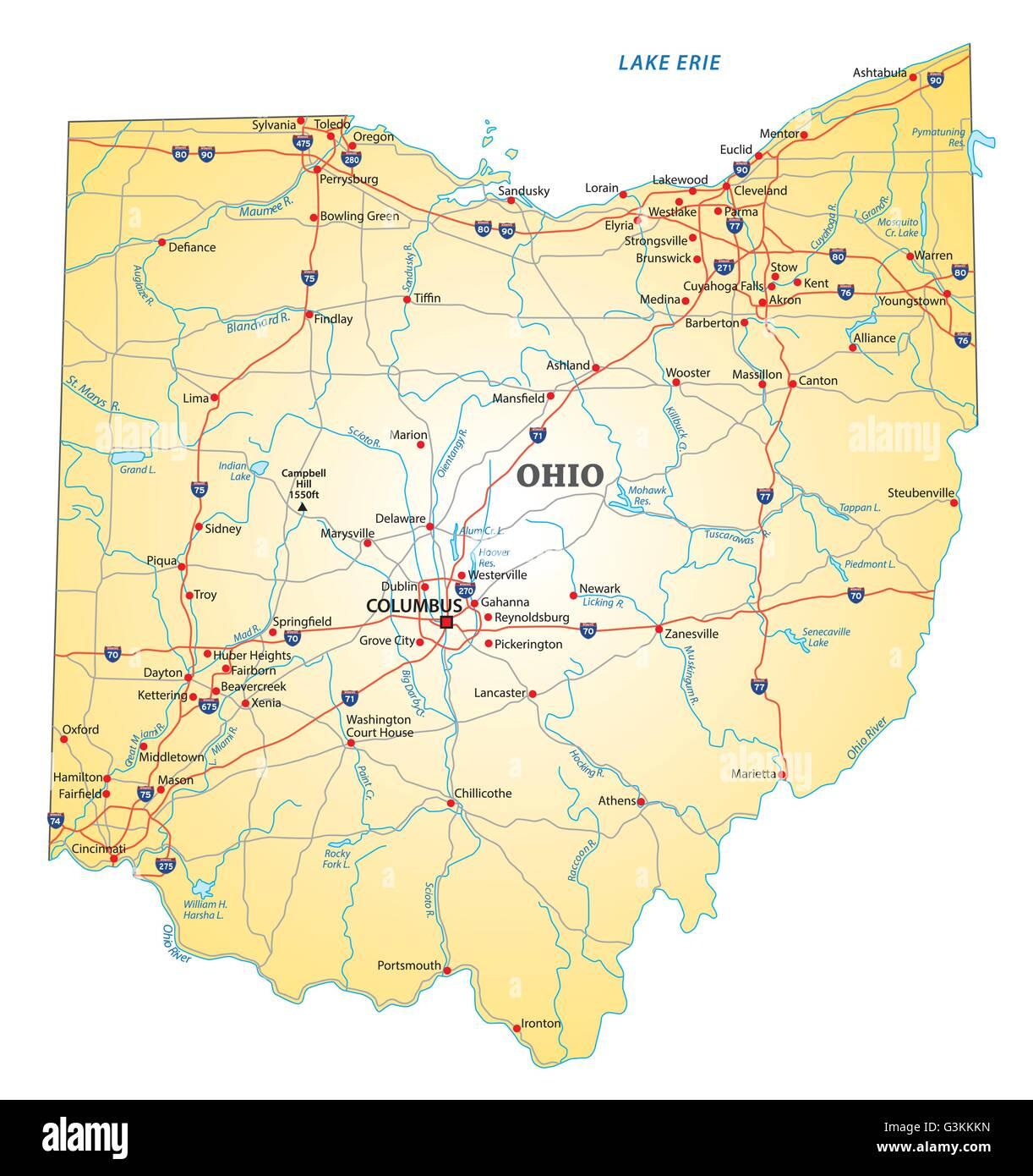 Ohio River Map Stockfotos & Ohio River Map Bilder - Alamy