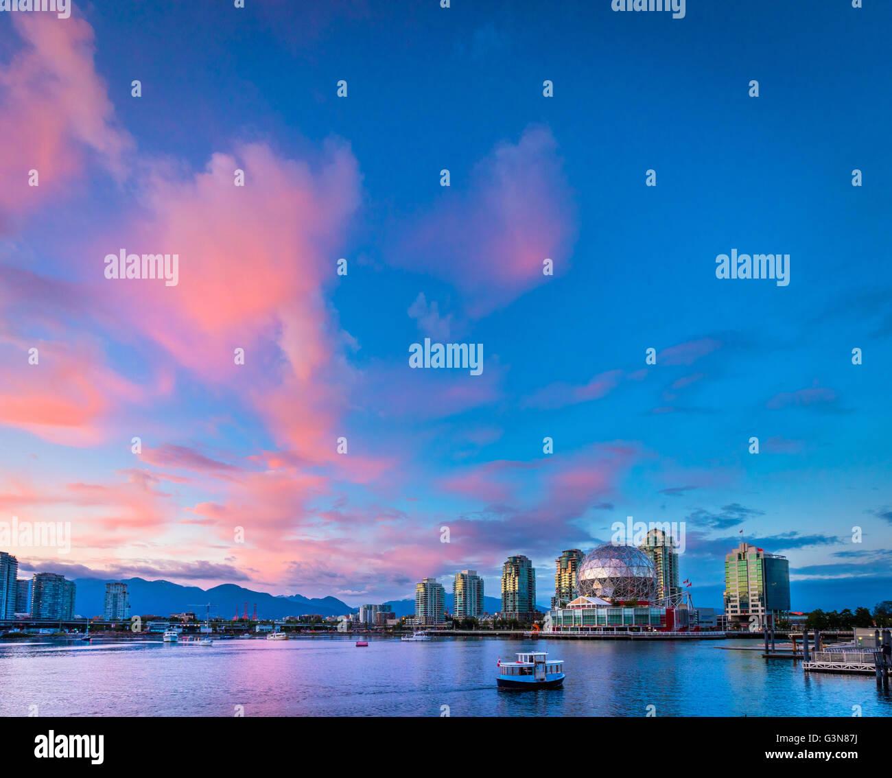 Welt der Wissenschaft bei Telus World of Science, Vancouver Stockbild