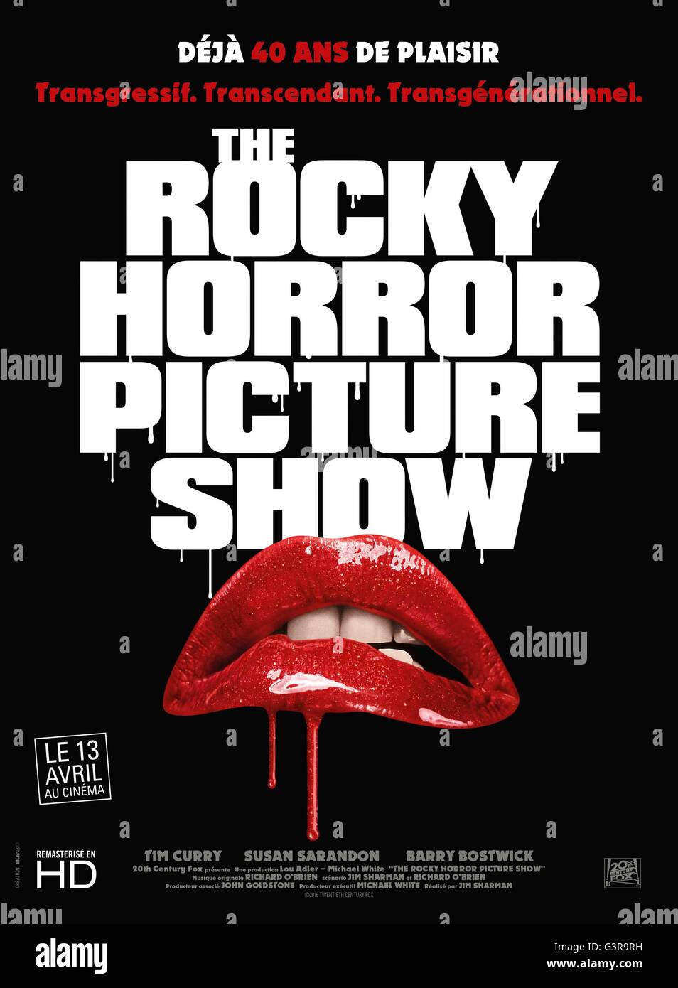 Rocky Horror Picture Show Jahre: 1975 USA / UK Regie: Jim Sharman Movie Poster (Fr) Stockbild