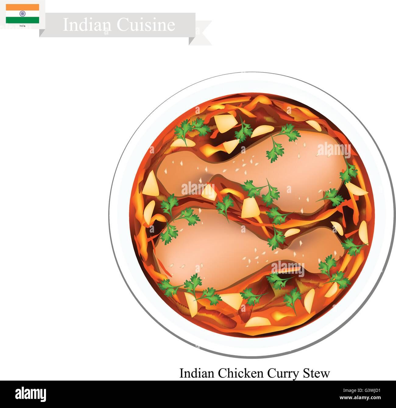 Indische Küche, traditionelle indische Chicken Curry Eintopf. Eines ...